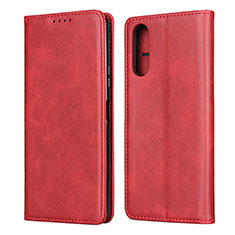 Leather Case Stands Flip Cover L03 Holder for Sony Xperia 10 II Red