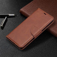 Leather Case Stands Flip Cover L03 Holder for Sony Xperia L4 Brown