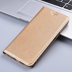 Leather Case Stands Flip Cover L03 Holder for Vivo X50e 5G Gold