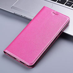 Leather Case Stands Flip Cover L03 Holder for Vivo X50e 5G Pink