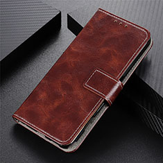 Leather Case Stands Flip Cover L03 Holder for Vivo Y20s Brown