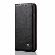 Leather Case Stands Flip Cover L03 Holder for Xiaomi Mi Note 10 Lite Black