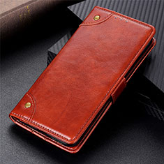 Leather Case Stands Flip Cover L03 Holder for Xiaomi Poco X3 NFC Light Brown