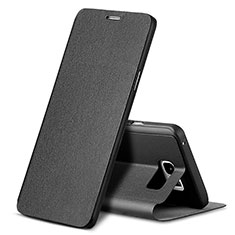 Leather Case Stands Flip Cover L04 for Samsung Galaxy Note 5 N9200 N920 N920F Black