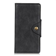 Leather Case Stands Flip Cover L04 Holder for Alcatel 1S (2019) Black