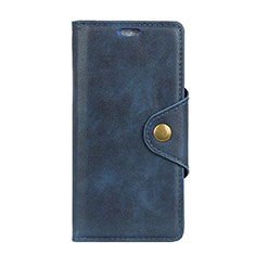 Leather Case Stands Flip Cover L04 Holder for Alcatel 1X (2019) Blue