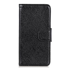 Leather Case Stands Flip Cover L04 Holder for Alcatel 3 (2019) Black