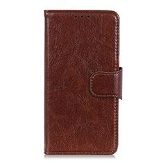 Leather Case Stands Flip Cover L04 Holder for Alcatel 3L Brown