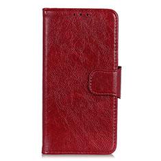 Leather Case Stands Flip Cover L04 Holder for Alcatel 3L Red