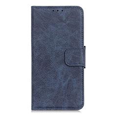 Leather Case Stands Flip Cover L04 Holder for Alcatel 3X Blue
