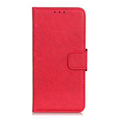 Leather Case Stands Flip Cover L04 Holder for Alcatel 3X Red