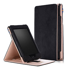 Leather Case Stands Flip Cover L04 Holder for Amazon Kindle Paperwhite 6 inch Black
