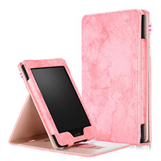 Leather Case Stands Flip Cover L04 Holder for Amazon Kindle Paperwhite 6 inch Pink