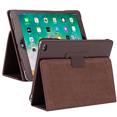 Leather Case Stands Flip Cover L04 Holder for Apple iPad 10.2 (2020) Brown
