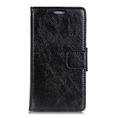 Leather Case Stands Flip Cover L04 Holder for Asus ZenFone Live L1 ZA551KL Black