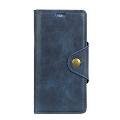 Leather Case Stands Flip Cover L04 Holder for Asus Zenfone Max Pro M2 ZB631KL Blue