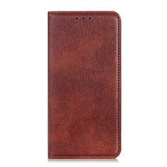 Leather Case Stands Flip Cover L04 Holder for Google Pixel 4 XL Brown