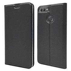 Leather Case Stands Flip Cover L04 Holder for Huawei Enjoy 8 Plus Black