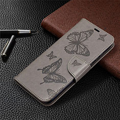 Leather Case Stands Flip Cover L04 Holder for Huawei Honor 9A Gray