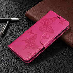 Leather Case Stands Flip Cover L04 Holder for Huawei Honor 9A Hot Pink