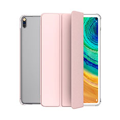 Leather Case Stands Flip Cover L04 Holder for Huawei MatePad 5G 10.4 Pink