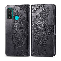 Leather Case Stands Flip Cover L04 Holder for Huawei P Smart (2020) Black