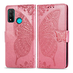 Leather Case Stands Flip Cover L04 Holder for Huawei P Smart (2020) Pink