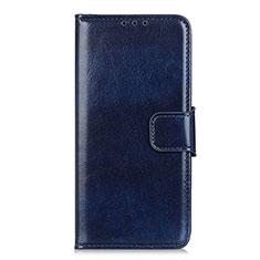 Leather Case Stands Flip Cover L04 Holder for LG Q52 Blue
