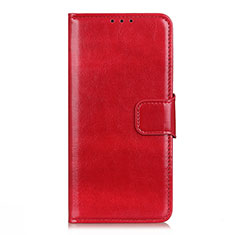 Leather Case Stands Flip Cover L04 Holder for LG Q52 Red