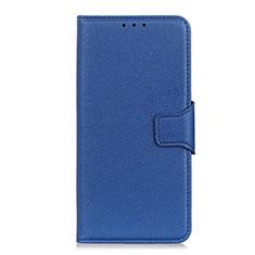 Leather Case Stands Flip Cover L04 Holder for LG Velvet 4G Blue