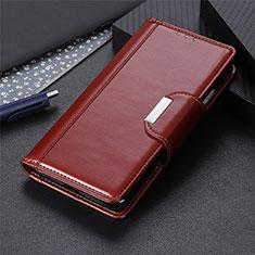 Leather Case Stands Flip Cover L04 Holder for Motorola Moto Edge Brown