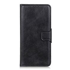 Leather Case Stands Flip Cover L04 Holder for Motorola Moto G Power Black