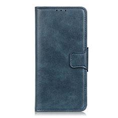 Leather Case Stands Flip Cover L04 Holder for Motorola Moto G Power Blue