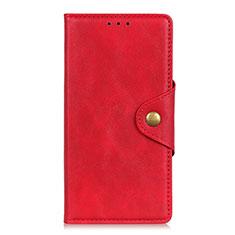 Leather Case Stands Flip Cover L04 Holder for Motorola Moto G9 Red