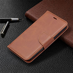 Leather Case Stands Flip Cover L04 Holder for Nokia 1.3 Brown