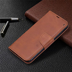 Leather Case Stands Flip Cover L04 Holder for Nokia 2.3 Brown