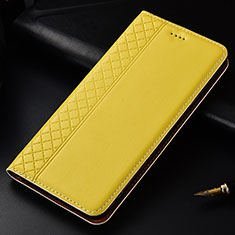 Leather Case Stands Flip Cover L04 Holder for Nokia 4.2 Yellow