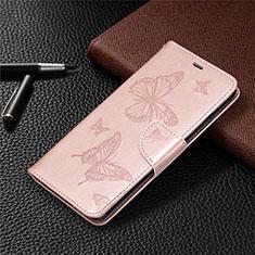 Leather Case Stands Flip Cover L04 Holder for Nokia 5.3 Rose Gold