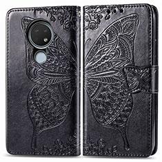 Leather Case Stands Flip Cover L04 Holder for Nokia 6.2 Black
