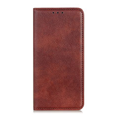 Leather Case Stands Flip Cover L04 Holder for OnePlus 7T Brown