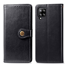 Leather Case Stands Flip Cover L04 Holder for Samsung Galaxy A42 5G Black