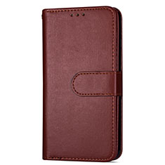 Leather Case Stands Flip Cover L04 Holder for Samsung Galaxy S20 5G Brown