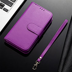 Leather Case Stands Flip Cover L04 Holder for Samsung Galaxy S20 Plus 5G Purple