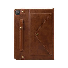 Leather Case Stands Flip Cover L04 Holder for Samsung Galaxy Tab S6 Lite 10.4 SM-P610 Brown