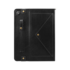 Leather Case Stands Flip Cover L04 Holder for Samsung Galaxy Tab S6 Lite 4G 10.4 SM-P615 Black
