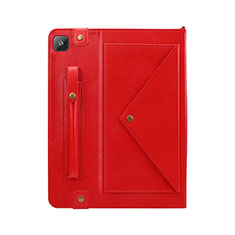 Leather Case Stands Flip Cover L04 Holder for Samsung Galaxy Tab S6 Lite 4G 10.4 SM-P615 Red