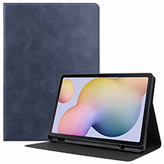 Leather Case Stands Flip Cover L04 Holder for Samsung Galaxy Tab S7 4G 11 SM-T875 Blue