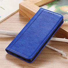 Leather Case Stands Flip Cover L04 Holder for Sharp AQUOS Sense4 Plus Blue