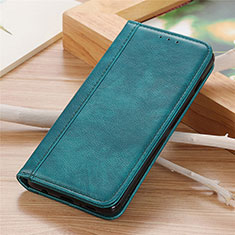 Leather Case Stands Flip Cover L04 Holder for Sharp AQUOS Sense4 Plus Green