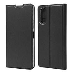Leather Case Stands Flip Cover L04 Holder for Sony Xperia 10 II Black